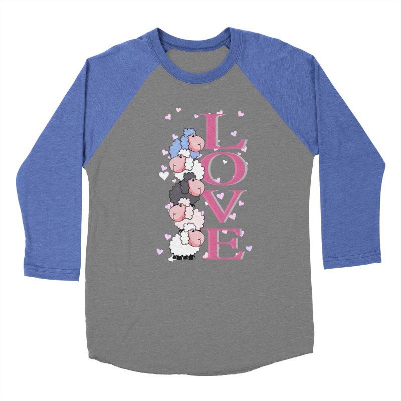Love Sheeps Men's Baseball Triblend T-Shirt by WaWaTees Shop