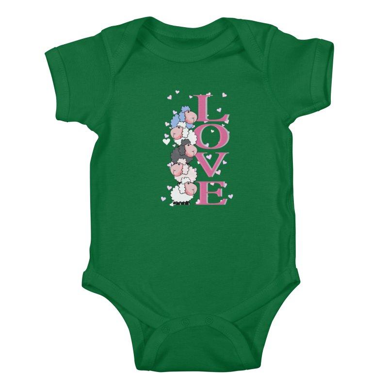 Love Sheeps Kids Baby Bodysuit by WaWaTees Shop