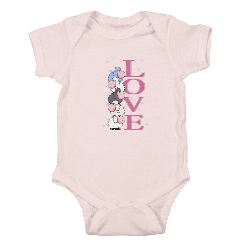 Love Sheeps Kids Baby Bodysuit by WaWaTees Shop