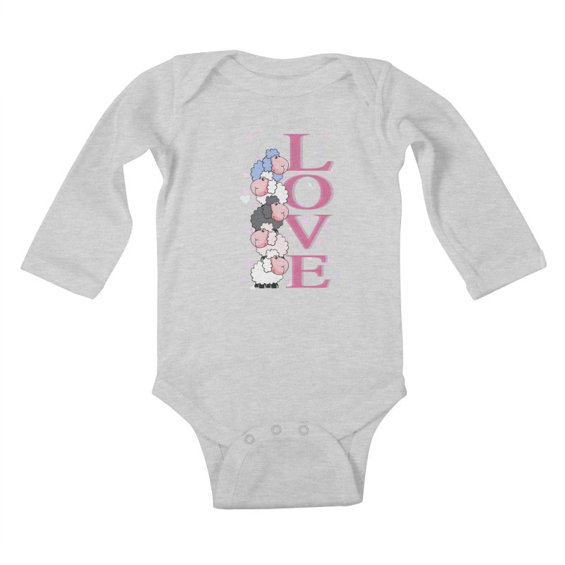Love Sheeps Kids Baby Longsleeve Bodysuit by WaWaTees Shop