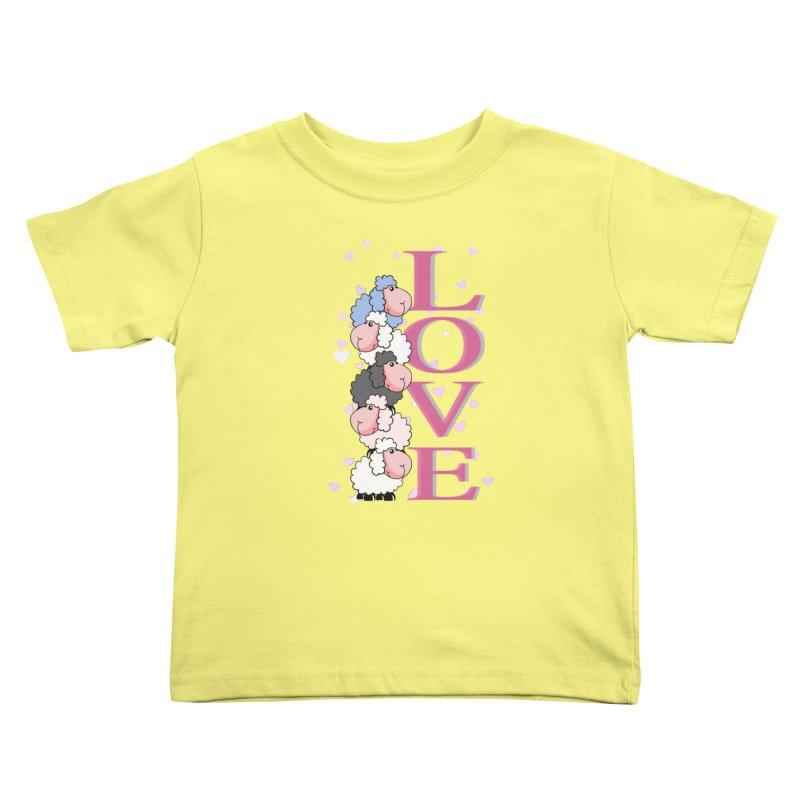 Love Sheeps Kids Toddler T-Shirt by WaWaTees Shop