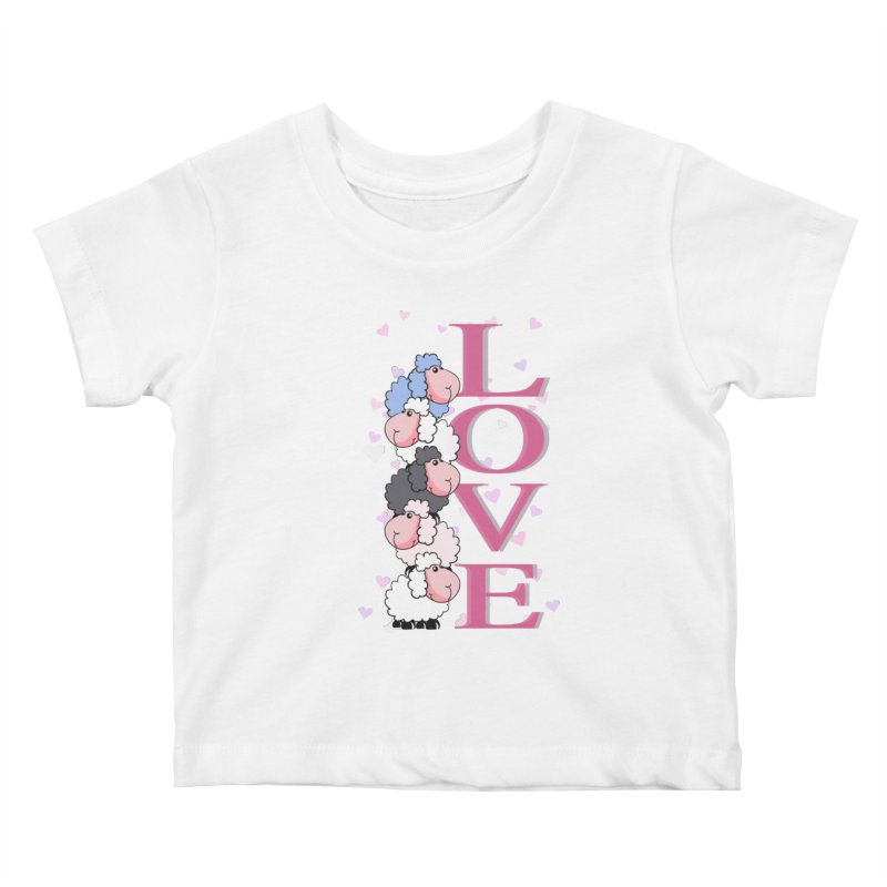 Love Sheeps Kids Baby T-Shirt by WaWaTees Shop