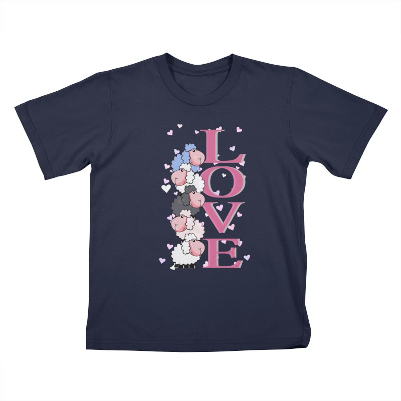 Love Sheeps Kids T-Shirt by WaWaTees Shop
