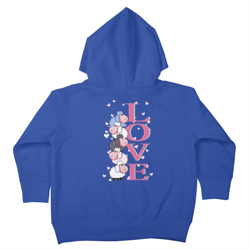 Love Sheeps Kids Toddler Zip-Up Hoody by WaWaTees Shop