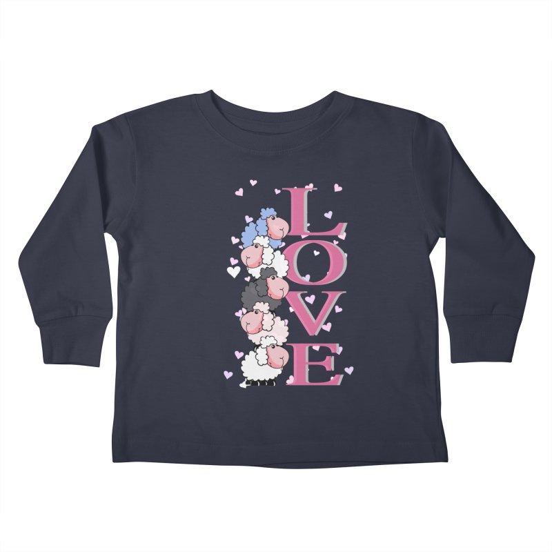 Love Sheeps Kids Toddler Longsleeve T-Shirt by WaWaTees Shop