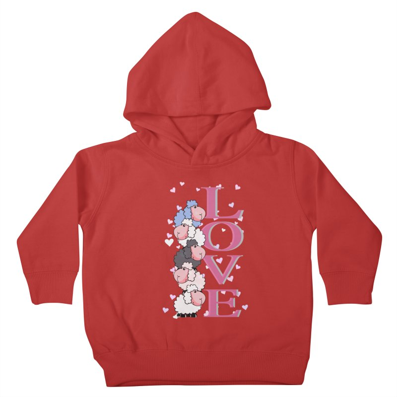 Love Sheeps Kids Toddler Pullover Hoody by WaWaTees Shop