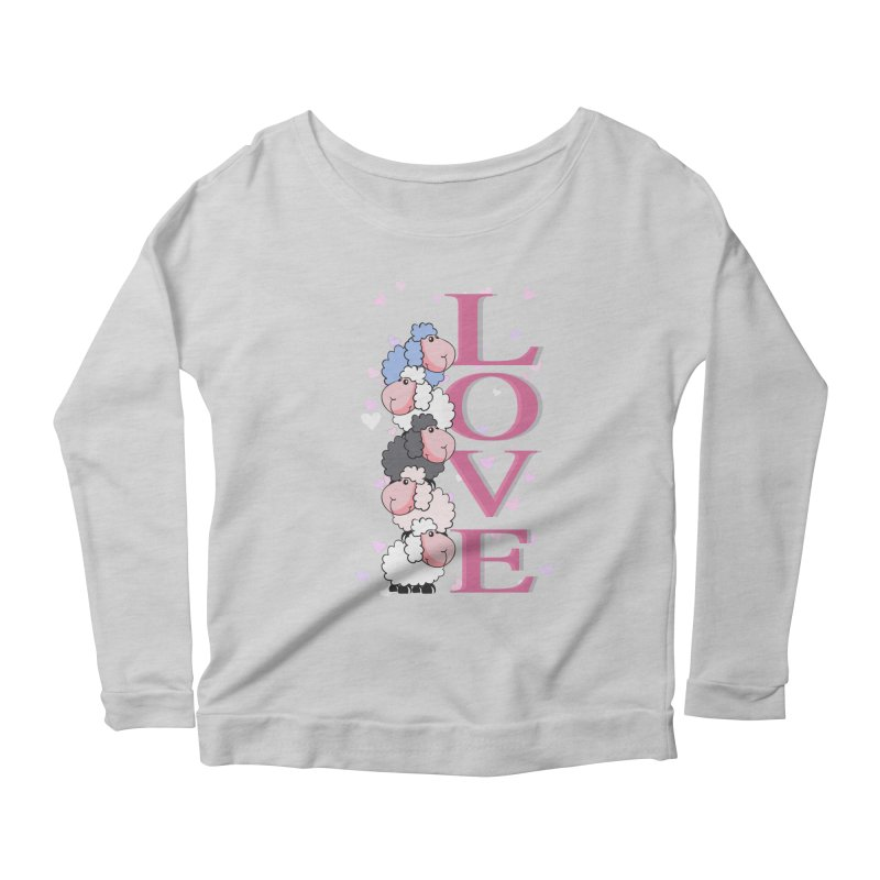 Love Sheeps Women's Longsleeve Scoopneck  by WaWaTees Shop