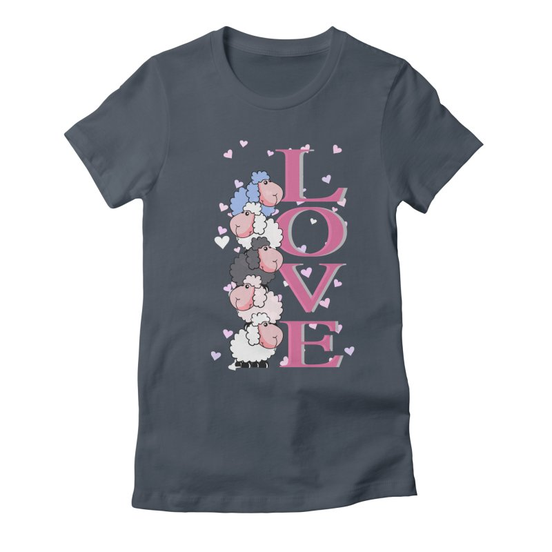 Love Sheeps Women's Fitted T-Shirt by WaWaTees Shop