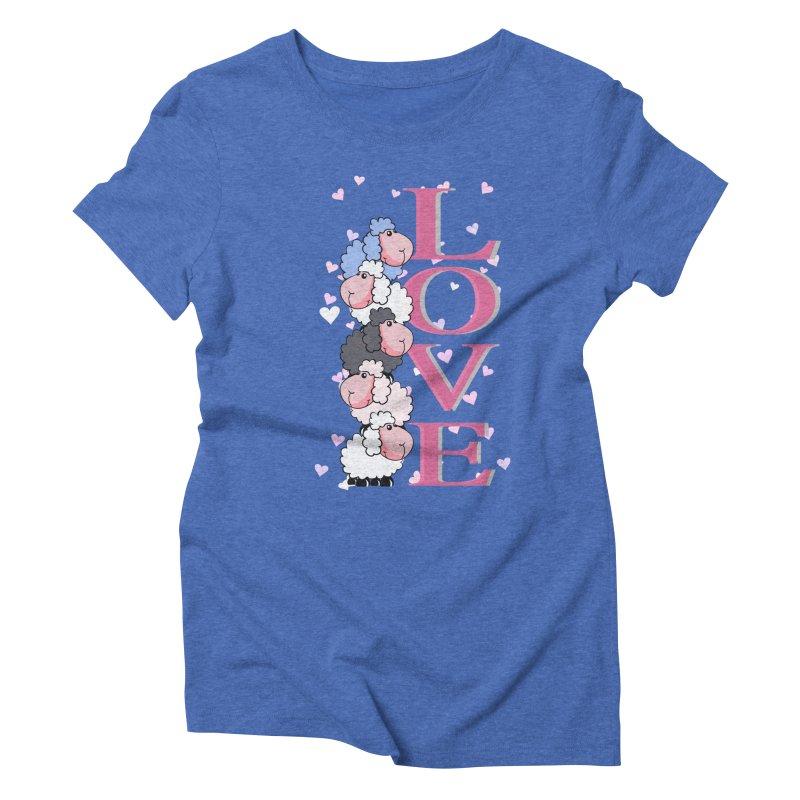 Love Sheeps Women's Triblend T-shirt by WaWaTees Shop