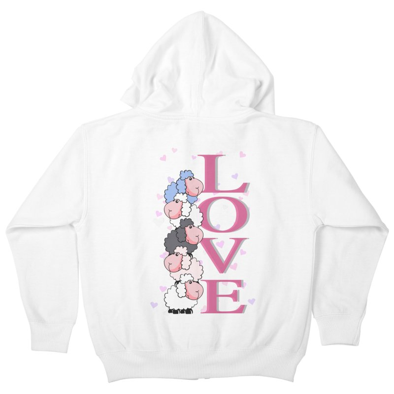 Love Sheeps Kids Zip-Up Hoody by WaWaTees Shop
