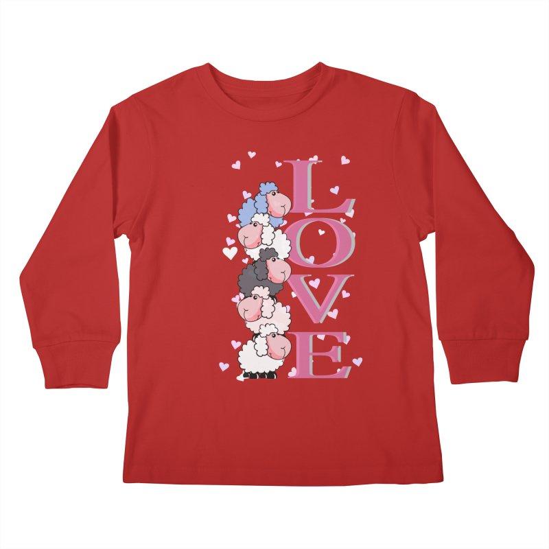 Love Sheeps Kids Longsleeve T-Shirt by WaWaTees Shop
