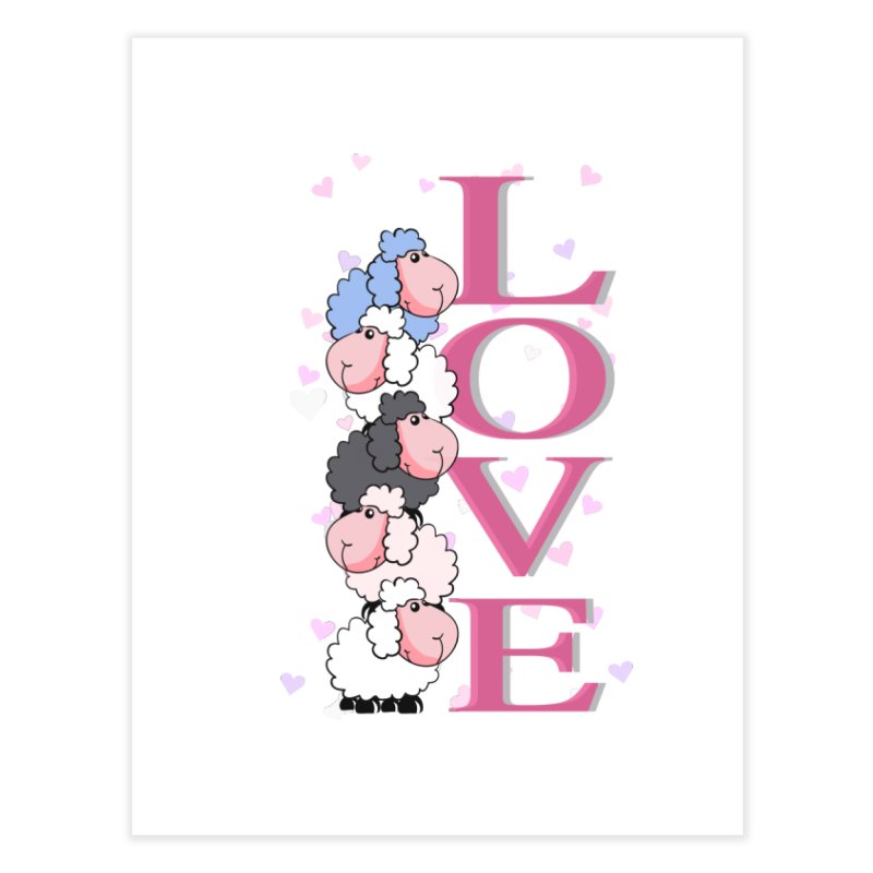 Love Sheeps Home Fine Art Print by WaWaTees Shop