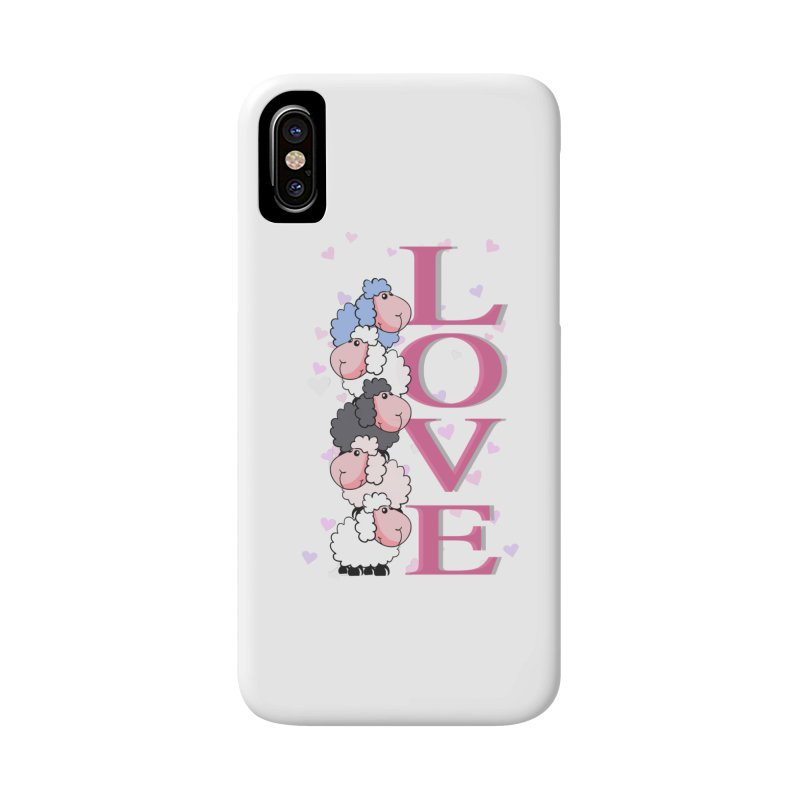Love Sheeps Accessories Phone Case by WaWaTees Shop