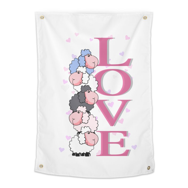 Love Sheeps Home Tapestry by WaWaTees Shop