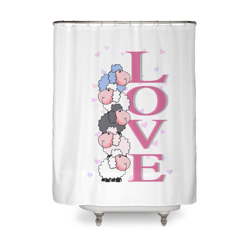 Love Sheeps Home Shower Curtain by WaWaTees Shop