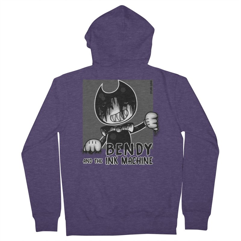 Evil Bendy on the Window Men's Zip-Up Hoody by WaWaTees Shop