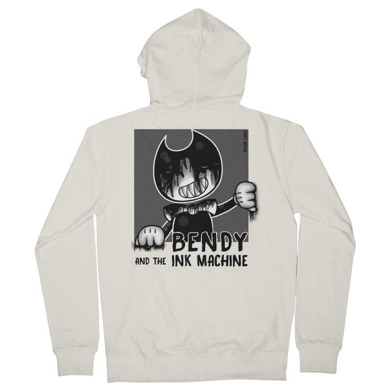 Evil Bendy on the Window Men's Zip-Up Hoody by WaWaTees Shop