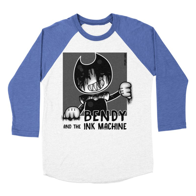 Evil Bendy on the Window Men's Baseball Triblend T-Shirt by WaWaTees Shop