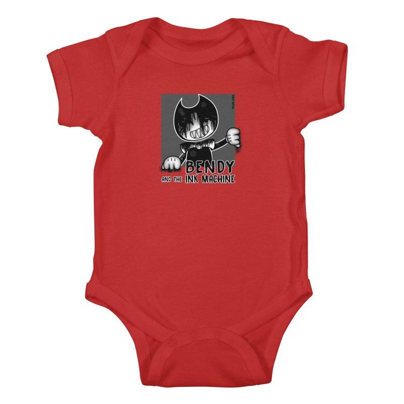 Evil Bendy on the Window Kids Baby Bodysuit by WaWaTees Shop