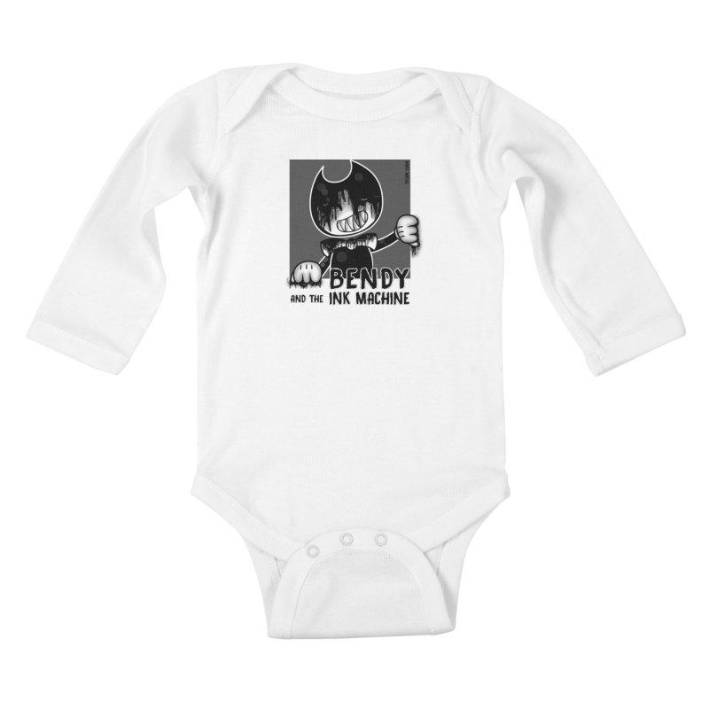 Evil Bendy on the Window Kids Baby Longsleeve Bodysuit by WaWaTees Shop