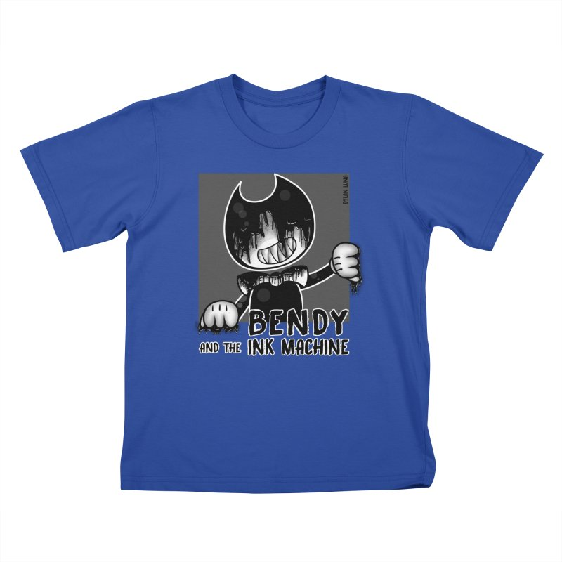 Evil Bendy on the Window Kids T-shirt by WaWaTees Shop