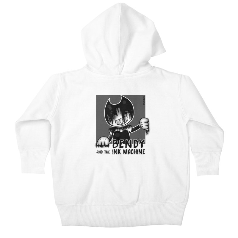 Evil Bendy on the Window Kids Baby Zip-Up Hoody by WaWaTees Shop