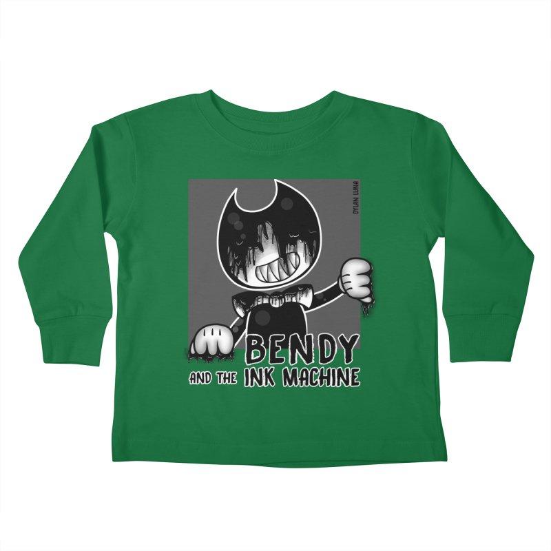 Evil Bendy on the Window Kids Toddler Longsleeve T-Shirt by WaWaTees Shop