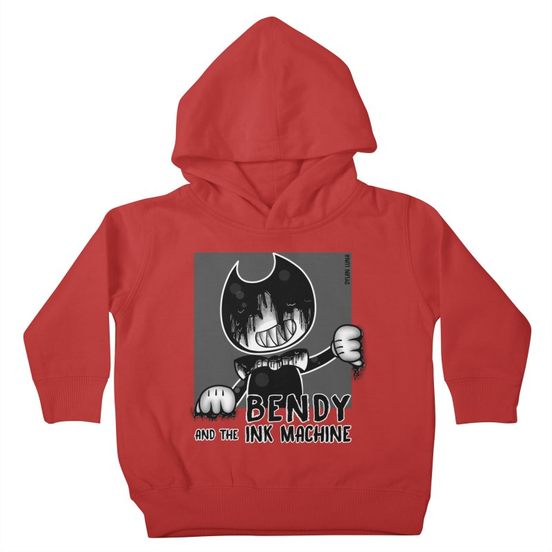 Evil Bendy on the Window Kids Toddler Pullover Hoody by WaWaTees Shop