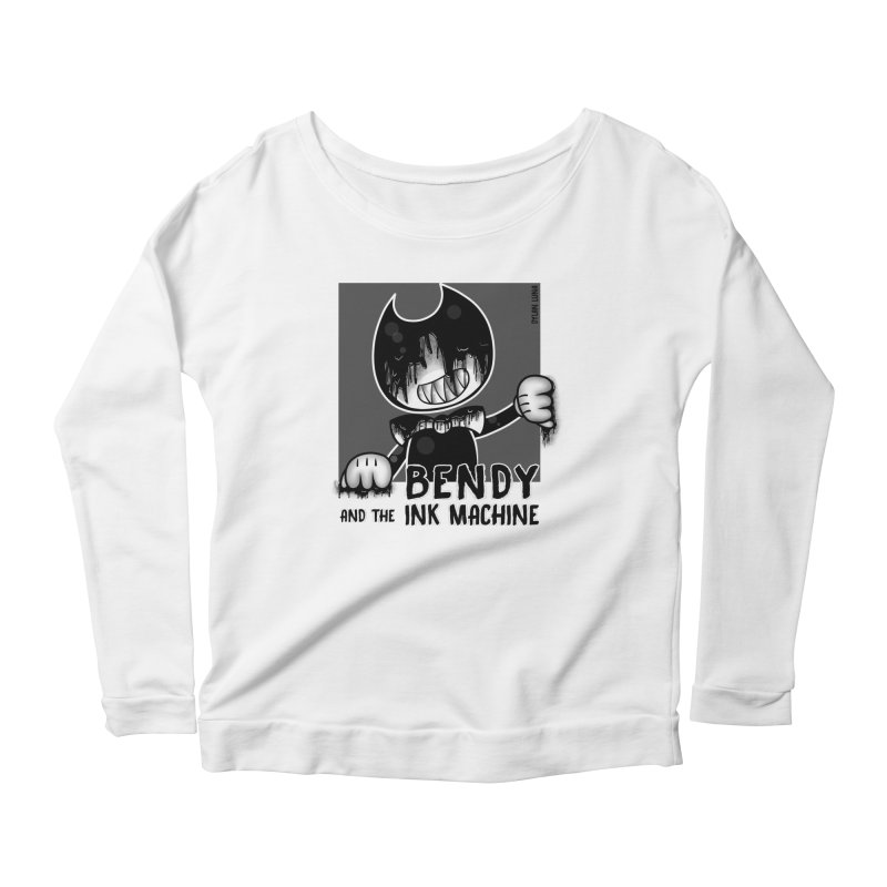 Evil Bendy on the Window Women's Longsleeve Scoopneck  by WaWaTees Shop