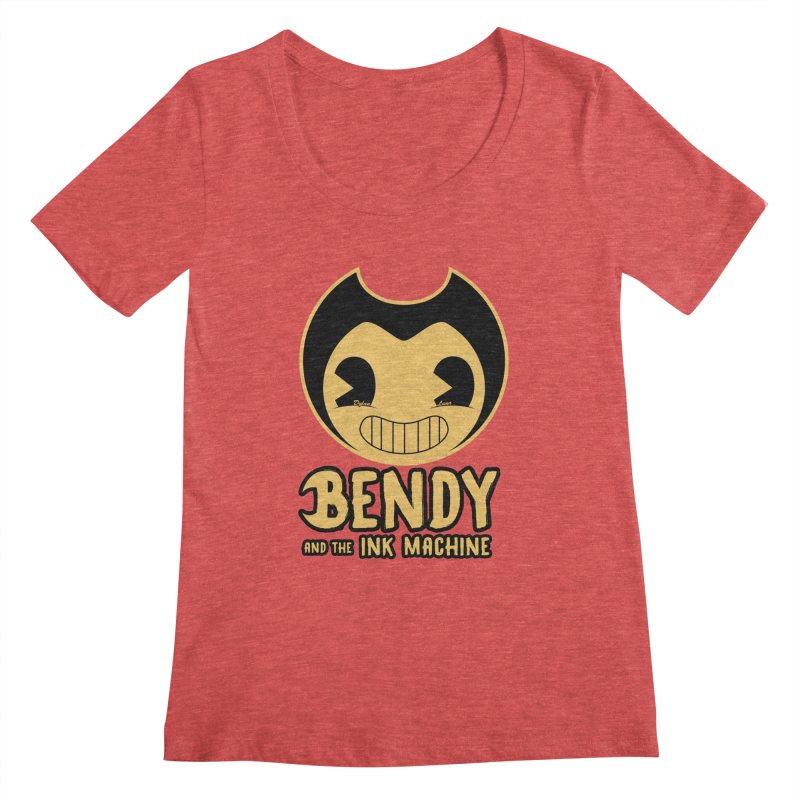 Bendy and The Ink Machine Women's Scoopneck by WaWaTees Shop