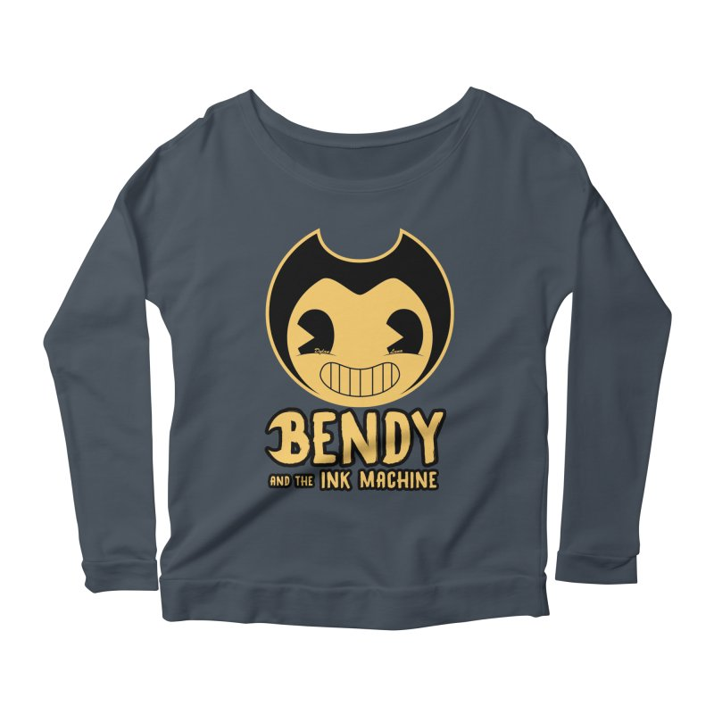 Bendy and The Ink Machine Women's Longsleeve Scoopneck  by WaWaTees Shop