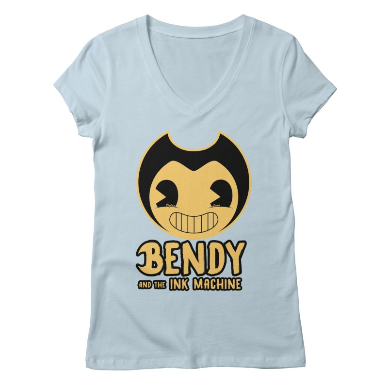 Bendy and The Ink Machine Women's V-Neck by WaWaTees Shop
