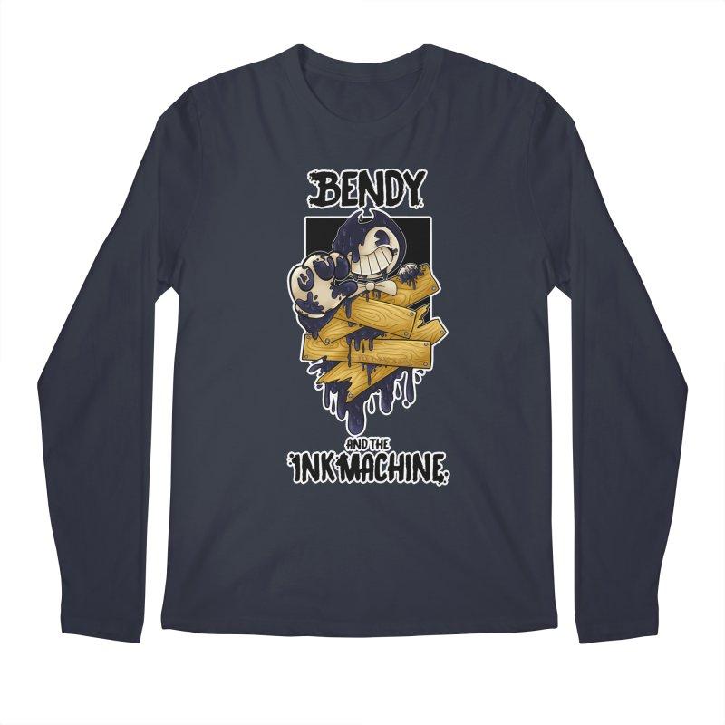 Wooden Bendy Men's Longsleeve T-Shirt by WaWaTees Shop