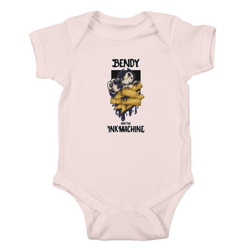 Wooden Bendy Kids Baby Bodysuit by WaWaTees Shop