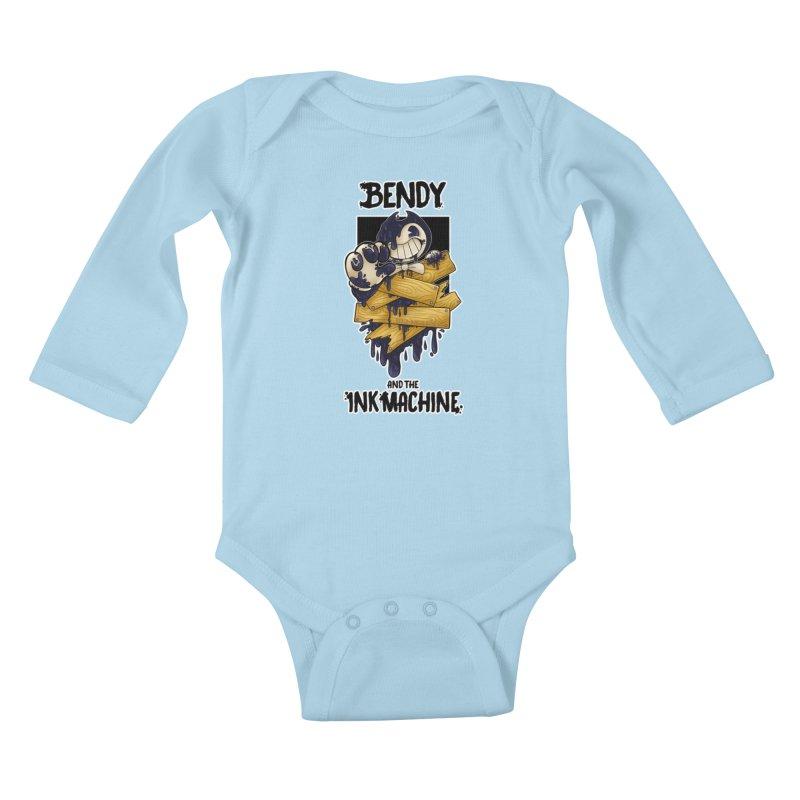 Wooden Bendy Kids Baby Longsleeve Bodysuit by WaWaTees Shop