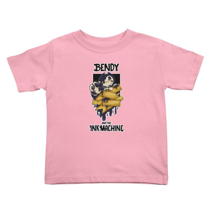 Wooden Bendy Kids Toddler T-Shirt by WaWaTees Shop