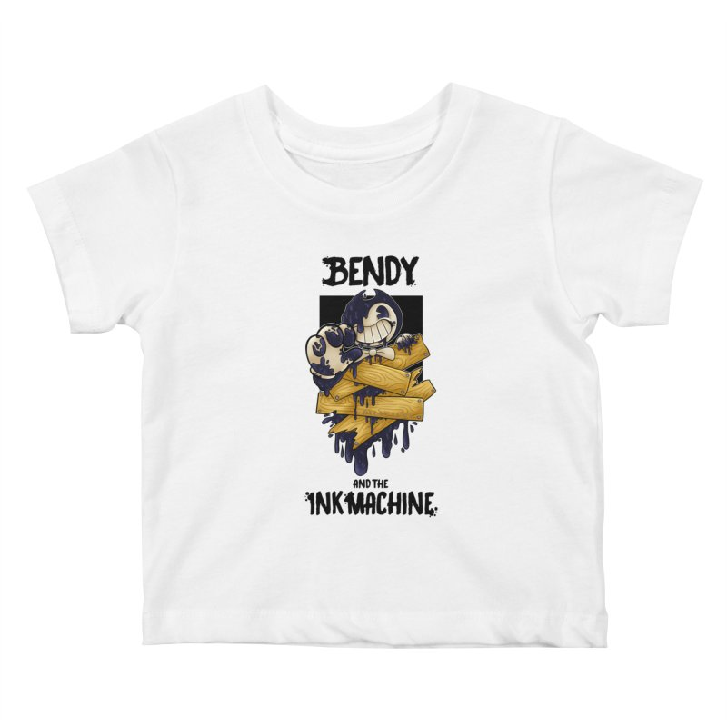 Wooden Bendy Kids Baby T-Shirt by WaWaTees Shop