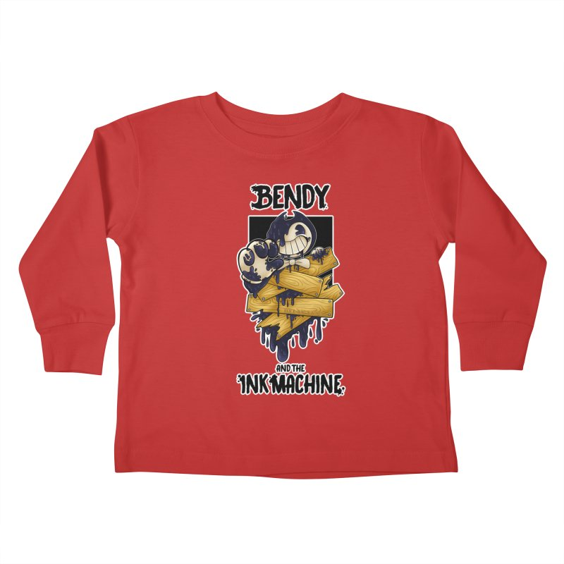Wooden Bendy Kids Toddler Longsleeve T-Shirt by WaWaTees Shop