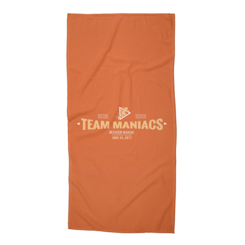 Team Maniacs Accessories Beach Towel by WaWaTees Shop