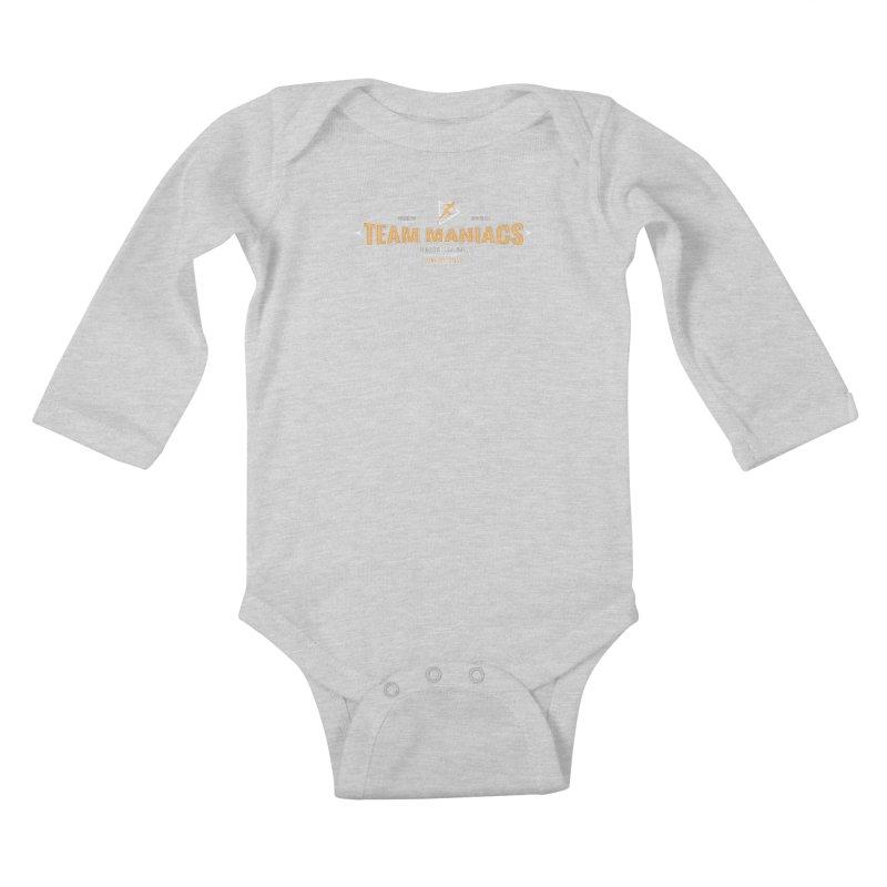 Team Maniacs Kids Baby Longsleeve Bodysuit by WaWaTees Shop