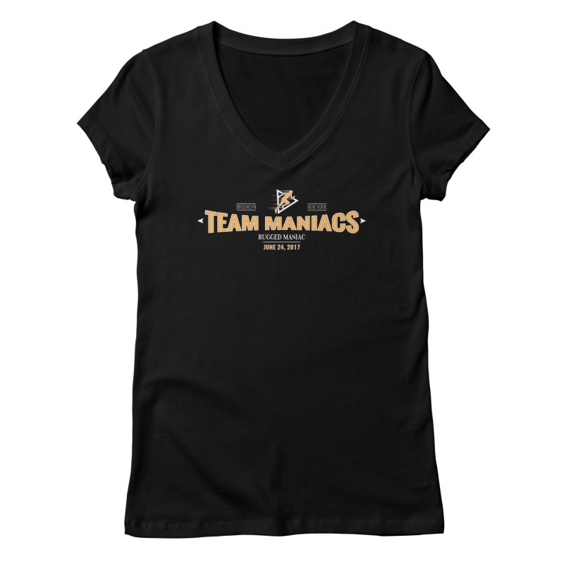 Team Maniacs Women's V-Neck by WaWaTees Shop