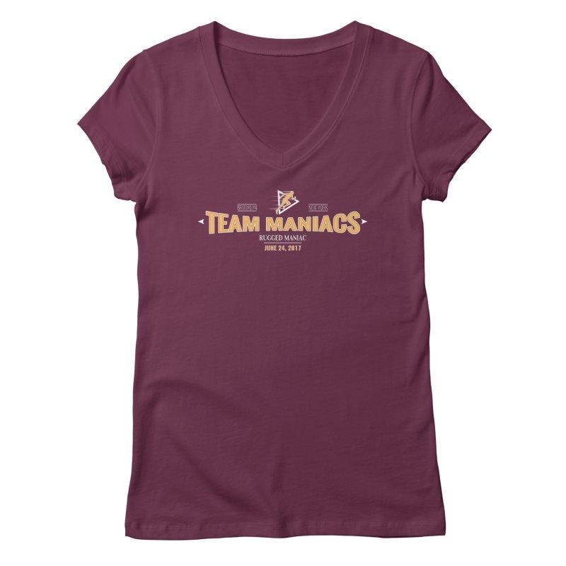 Team Maniacs Women's V-Neck by WaWaTees Shop