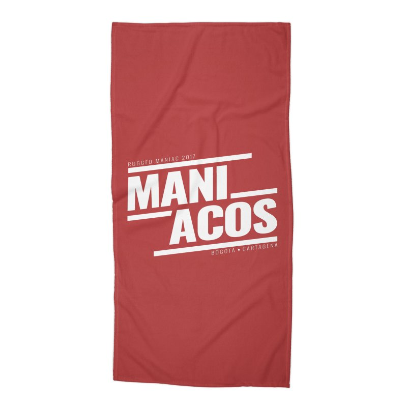 Maniacos v1 Accessories Beach Towel by WaWaTees Shop