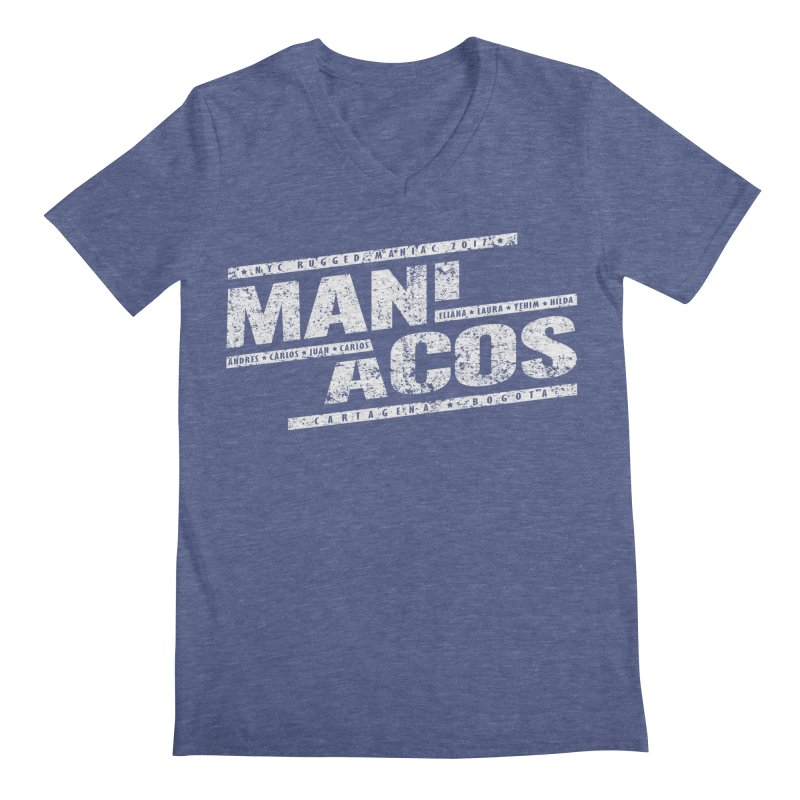 Maniacos v1 Men's V-Neck by WaWaTees Shop