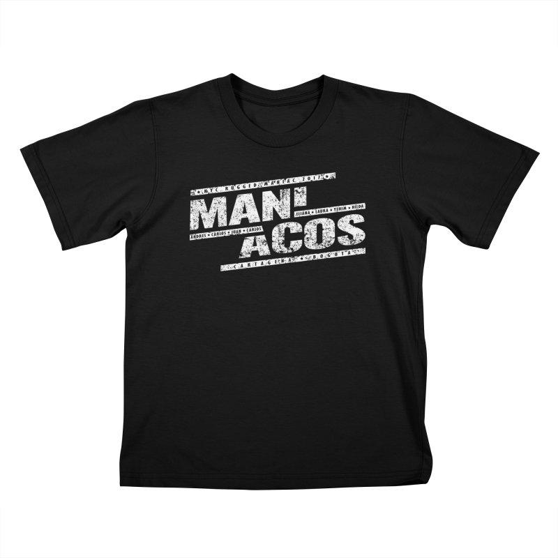 Maniacos v1 Kids T-shirt by WaWaTees Shop