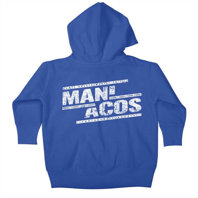 Maniacos v1 Kids Baby Zip-Up Hoody by WaWaTees Shop