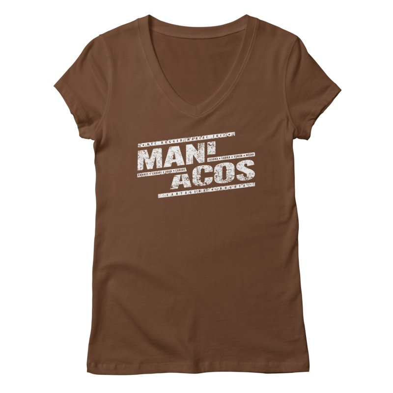 Maniacos v1 Women's V-Neck by WaWaTees Shop