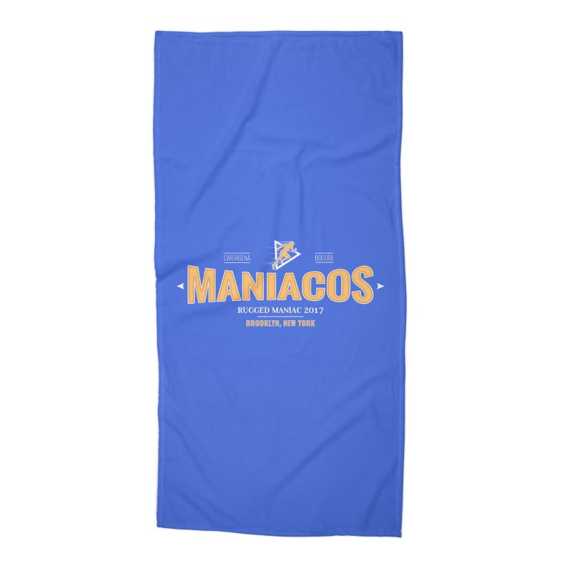Maniacos v2 Accessories Beach Towel by WaWaTees Shop