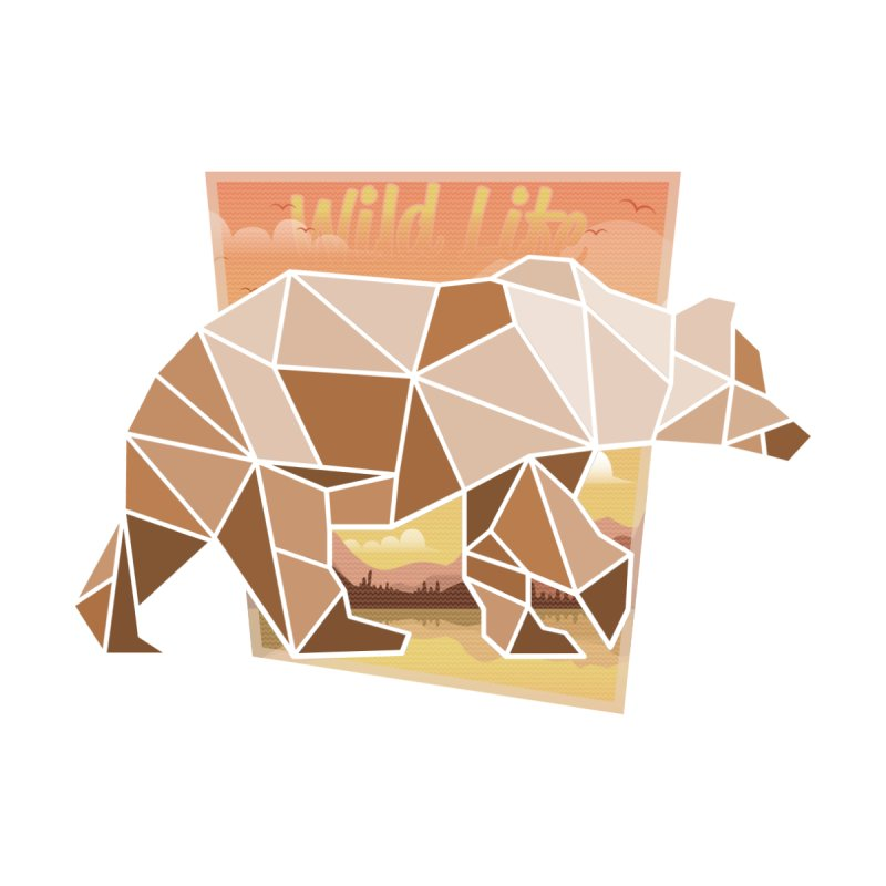 Polygonal Grizzly Bear None  by WaWaTees Shop