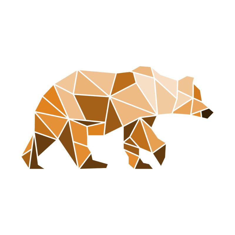 Geometric Grizzly None  by WaWaTees Shop